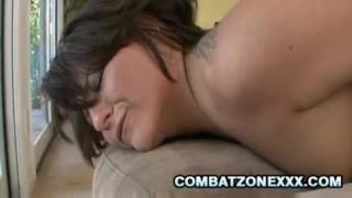 Casey cumz 12inch black cock stretching a teen pussy