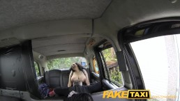 FakeTaxi Huge tits and a big hairy pussy