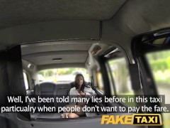 FakeTaxi Naked woman in London taxi swallows drivers spunk