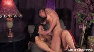 Asa Akira And Skin Diamond Fuck Each Others Brains Out