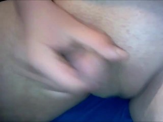19 years old boy jerks off his tiny dick