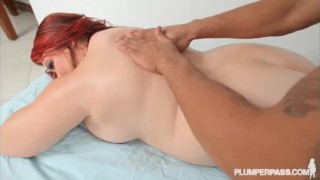 Teen BBW Harley Ann Gets Massage from Big Black Cock plumper bbc plumperpass curvy big tits big ass chunky babe big boobs bbq plump tits chubby fat reality massage doggystyle