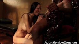 Asian witch charms black man and fucks him