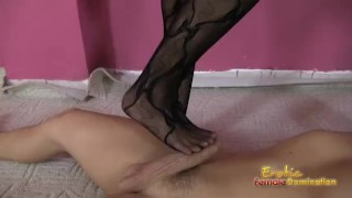 Arab Amira foot fetish video of a footjob bdsm female domination femdom face sitting cuckold kink fetish hungarian cfnm facesitting ballbusting smothering
