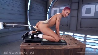 Skin Diamond Squirts On Dildo Machines  strip tease fuck machine masturbation ebony dildo masturbate tattoo fetish nerd toys piercing kink squirting pussy bondage orgasm tattoos fuckingmachines moan