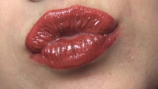 Sarah Blake Femdom - Kiss Fetish and Lipstick Fetish - Pucker up!  close up mouth fetish femdom pov sarah blake pov sarah blake femdom redhead femdom mom kink sarah blake lipstick fetish brunette lipstick mother pucker femdom lipstick fake tits kiss fetish