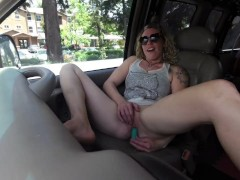 Deep G-Spot Vibrator Orgasm While Driving