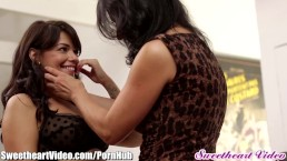 Perfectly stacked Nicole & Abigail lick each other's pussies