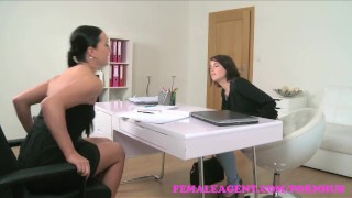 FemaleAgent. Strap on fuck makes busty brunettes big tits bounce audition agent raven hardcore sexy big-tits orgasms amateur office big-boobs strap-on lesbian femaleagent reality casting hd busty czech