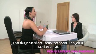 FemaleAgent. Strap on fuck makes busty brunettes big tits bounce  strap on big tits agent raven hd audition sexy amateur casting busty hardcore orgasms office lesbian reality czech big boobs femaleagent