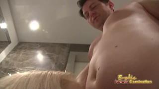 Cuckolding Husband Has To Watch Wife Blow A Stud cuckolding bdsm femdom face-sitting cuckold fetish cfnm facesitting ballbusting smothering