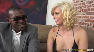 Cindy Lou Helps A White Boy Become A Cuckold  interracial dogfartnetwork kink small-tits big black cock bbc cuckold teen cuckhold blonde fetish