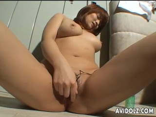 Hot Asian slut is toy fucking her clit so she cums