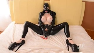 BDSM Sex Goddess Latex Lucy Masturbates till Orgasm  big ass sex goddess big tits high heels masturbation enhanced tits houseoftaboo bdsm masturbate pussy gape butt latex orgasm big boobs pinky gothic