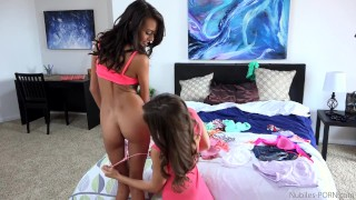 Preview 1 of Janice Griffith and Riley Reid too fucking cute lesbian scene