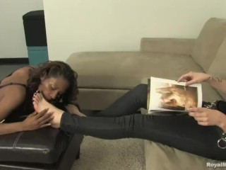 Interracial Foot Fetish - Mistress Autumn