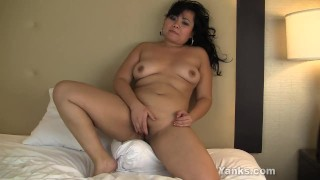 BBW Asian Thea Masturbating  yanks featured video masturbation bbw hd asian amateur solo chubby yanks clit busty softcore cumming fingering orgasm hot ass