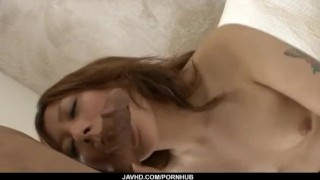 Superb POV blowjob with naughty Miku Haruno  ball licking hot-milf mother tits hand-work cumshot javhd mom busty bedroom