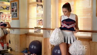 Preview 1 of Busty Pornstar Cheerleader