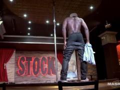 Maskurbate Big Black Cock Strippng at Stock Bar