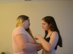 Abby&Courtney Kissing and Oral