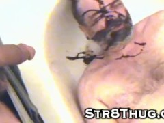 Piss spit chocolate feet dick cock cum ass all in faggot slave pig mouth