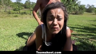 CFNMTeens - Sexy Ebony Fucks The Gardener  adrian maya clothed sex outdoor hd ebony cfnm interracial smalltits cowgirl shaved bigcock doggystyle gardener cfnmteens teamskeet garden