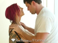 PureMature – Inked up MILF Anna Bell Peaks gets pussy filled with cum