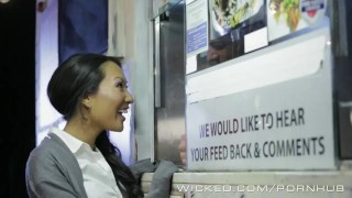 Wicked - Asa Akira gets some food truck cock  ass sloppy oral asian cumshot tattoo small tits skinny cum pounded cock sucking japanese brunette raw wicked facial big load wickedpictures shaved pussy