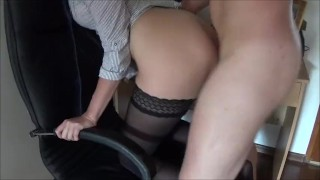 Double Penetration with Big Strap on in Ass and Cock in Pussy and squirting  strap on ass fuck double penetration homemade dp strapon squirt amateur hardcore squirting fisting rough anal orgasm doggystyle dp strap on and cock