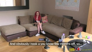 FakeAgentUK Teen redhead with massive tits gets a good hard fucking