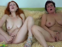 Sexy granny goes to fuck with young hot girl