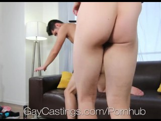 GayCastings - Tanned stud Ethan Travis gets fucked by casting agent