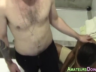 Interracial amateurs suck