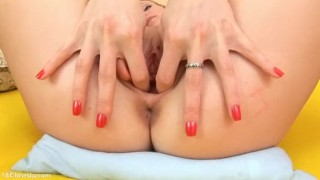 Preview 2 of Claire Stretches and Gapes her Asshole Closeup