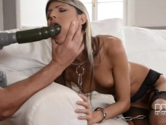 Gina gets her asshole drilled at high speed