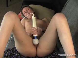 Small Titted Shay Vibrating Her Hairy Quim