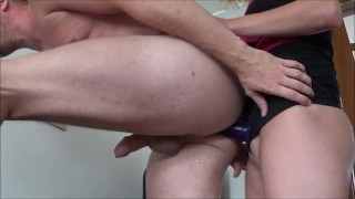 Wife Pegging her Husband by Huge Strapon  amateur anal ass fuck pegging his ass femdom strapon femdom cuckold girl strap on guy pegging homemade strapon truutruu femdom amateur kink anal strap on guy brutal strapon anal