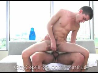 GayCastings - Ian Levine's fucked in first porn scene