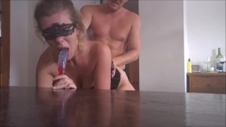 Extreme Triple Penetration. Huge Dildo Deepthroat, Stapon and Big Cock  dildo deepthroat squirting orgasm sloppy deepthroat extreme deepthroat triple penetration brutal deepthroat big dildo dp strapon squirt truutruu extreme rough gagging deepthroat adult toys