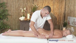 Preview 4 of Massage Rooms Horny petite blonde has her shaved hole filled up to the max