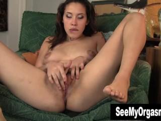 Excited Betty Masturbating Her Snatch
