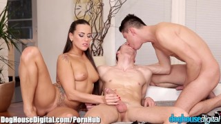 DogHouse Bi-Curious Anal 3Some  ass fuck bi curious bi sexual hairy doghousedigital blowjob cumshot small tits bisexual bisex brunette czech 3some threesome anal facial doggystyle natural tits