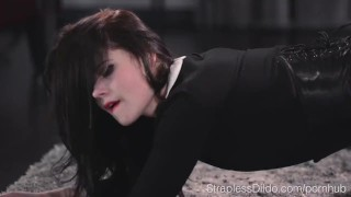 Sex Starved Doll is Strapon Fucked Hard by Maria Pie  high heels hairy pussy strapon straplessdildo lesbians fishnets pantyhose kink footjob foot fetish sex toys adult toys girl on girl leoatrds straples dildo