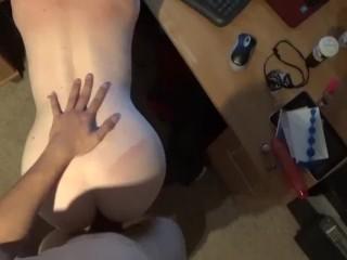 POV doggystyle fucking my wife on cam