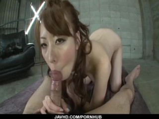 Rough POV porn session with hot Misato Sakurai
