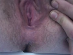 Double Pussy Orgasm with no hands dripping wet