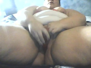 Sexy BBW plays with her toys