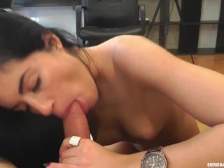 Messy facial fun for stunning babe April Blue