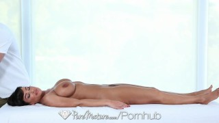 PureMature - Career woman Lisa Ann unwind with a sexy message
